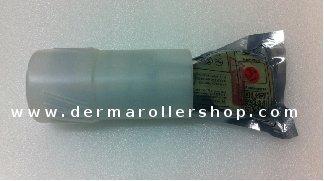 Dr.Roller inside opened plastic tube by dermarollershop.com
